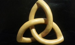 "Triquetra made out of yellow cedar 2"" thick at Parm"